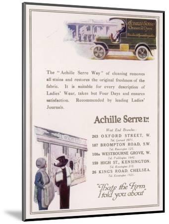 Achille Serre, Cleaners and Dyers--Mounted Giclee Print