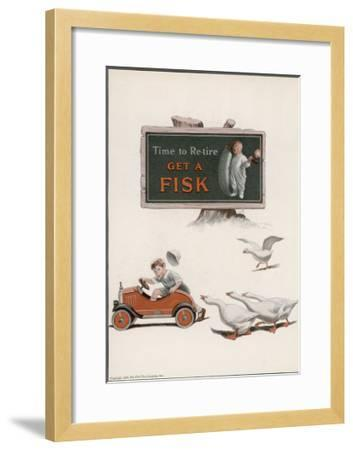 Fisk Tyres, Time to Re-Tire--Framed Giclee Print