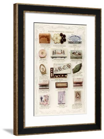 Chocolates in Boxes--Framed Giclee Print