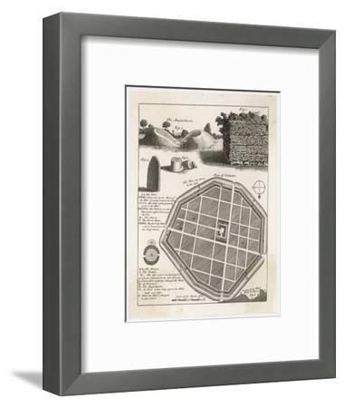 Plan and Details from the Well-Preserved Roman Town of Silchester--Framed Giclee Print