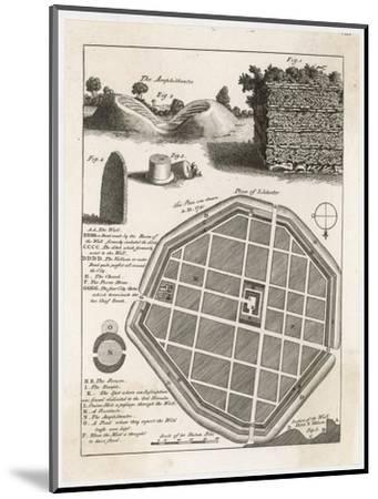 Plan and Details from the Well-Preserved Roman Town of Silchester--Mounted Giclee Print