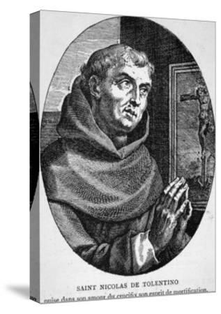 Saint Nicola di Tolentino Augustinian Friar Who Led an Uneventful Life of Patience and Humility--Stretched Canvas Print