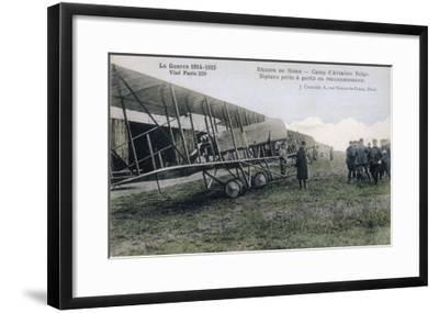 Farman Biplanes of a Belgian Squadron Used for Reconnaisance--Framed Giclee Print
