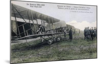 Farman Biplanes of a Belgian Squadron Used for Reconnaisance--Mounted Giclee Print