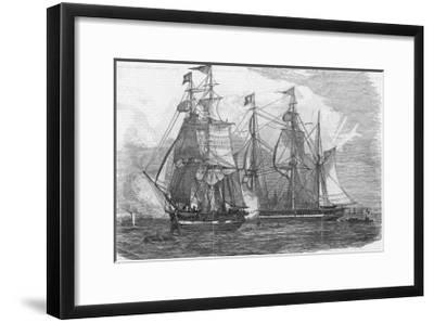 Ships of the Hudson's Bay Company Sail from Gravesend England--Framed Giclee Print