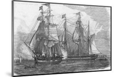Ships of the Hudson's Bay Company Sail from Gravesend England--Mounted Giclee Print