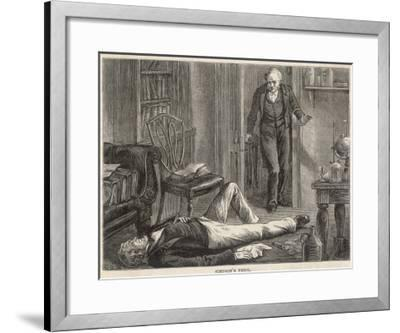J.Y. Simpson Experiments with Chloroform and is Discovered by a Colleague--Framed Giclee Print