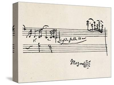 Cadenza, with Mozarts Signature--Stretched Canvas Print
