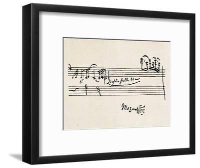 Cadenza, with Mozarts Signature--Framed Premium Giclee Print
