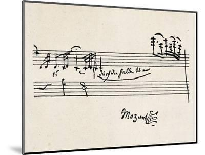 Cadenza, with Mozarts Signature--Mounted Premium Giclee Print