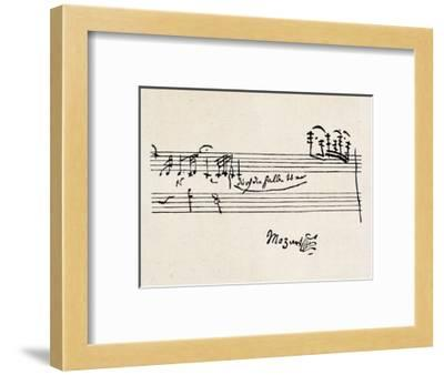 Cadenza, with Mozarts Signature--Framed Giclee Print