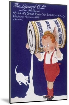 Frisian Girl Sweetened Condensed Milk--Mounted Giclee Print