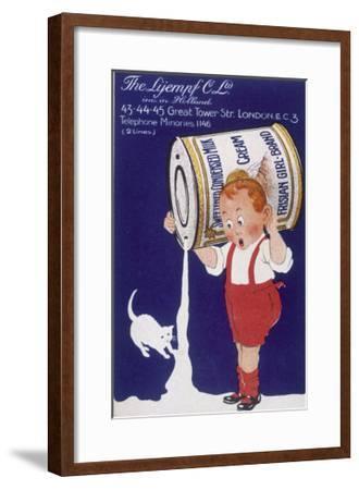 Frisian Girl Sweetened Condensed Milk--Framed Giclee Print
