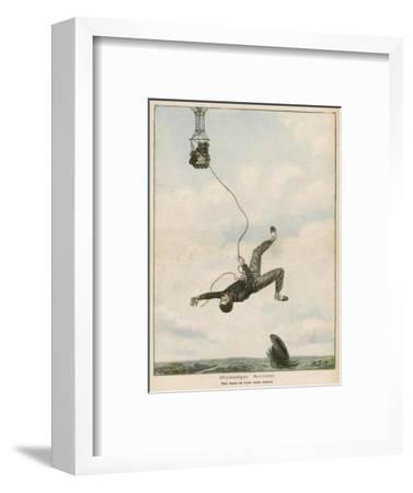 Carried Aloft by Balloon--Framed Giclee Print
