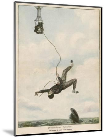 Carried Aloft by Balloon--Mounted Giclee Print