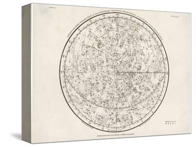 The Northern Hemisphere Including the Signs of the Zodiac--Stretched Canvas Print