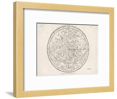 The Northern Hemisphere Including the Signs of the Zodiac--Framed Giclee Print
