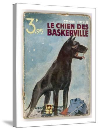 The Hound of the Baskervilles' a Striking Cover for a French Edition Dated 1933--Stretched Canvas Print