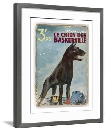 The Hound of the Baskervilles' a Striking Cover for a French Edition Dated 1933--Framed Premium Giclee Print
