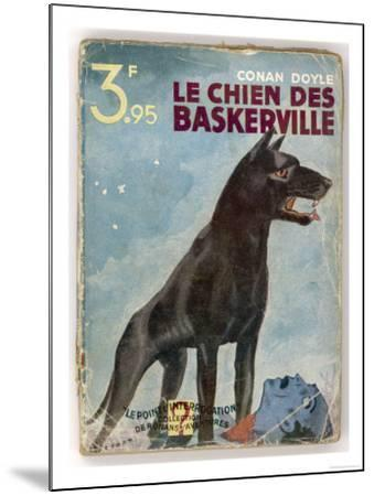 The Hound of the Baskervilles' a Striking Cover for a French Edition Dated 1933--Mounted Premium Giclee Print