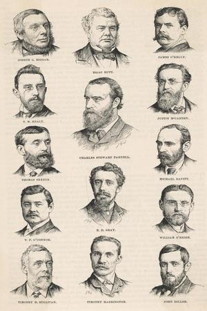 The Leaders of the Irish Parliamentary Party Including Charles Stewart Parnell--Stretched Canvas Print