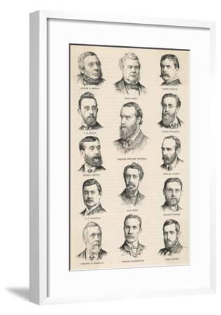 The Leaders of the Irish Parliamentary Party Including Charles Stewart Parnell--Framed Giclee Print
