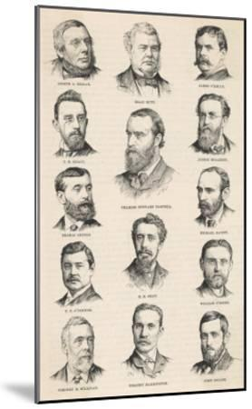 The Leaders of the Irish Parliamentary Party Including Charles Stewart Parnell--Mounted Giclee Print