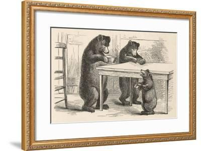 Goldilocks and the Three Bears--Framed Giclee Print