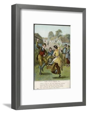 Couple Dance an Irish Jig on the Village Green--Framed Premium Giclee Print