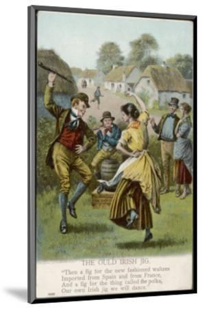 Couple Dance an Irish Jig on the Village Green--Mounted Premium Giclee Print