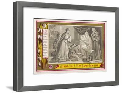 The Three Magi Give Jesus His Birthday Presents--Framed Giclee Print