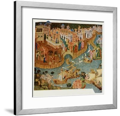 Marco Polo Leaves Venice Almost Certainly on His Second Trip in 1271--Framed Giclee Print