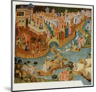 Marco Polo Leaves Venice Almost Certainly on His Second Trip in 1271--Mounted Giclee Print