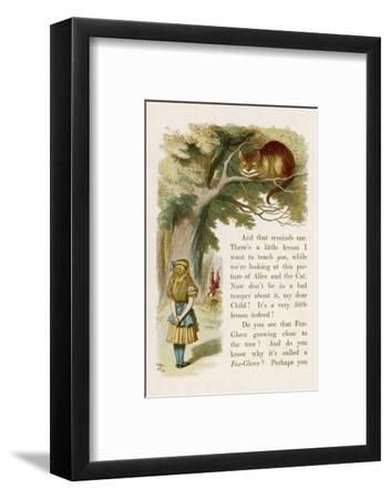 Alice and the Cheshire Cat-John Tenniel-Framed Giclee Print