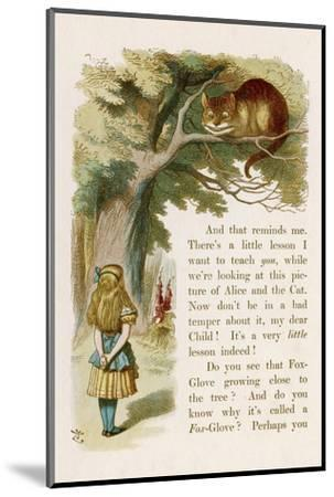 Alice and the Cheshire Cat-John Tenniel-Mounted Giclee Print