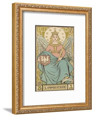 Tarot: 3 L'Imperatrice, The Empress-Oswald Wirth-Framed Giclee Print