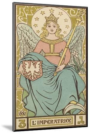 Tarot: 3 L'Imperatrice, The Empress-Oswald Wirth-Mounted Giclee Print