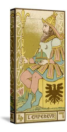 Tarot: 4 L'Empereur, The Emperor-Oswald Wirth-Stretched Canvas Print