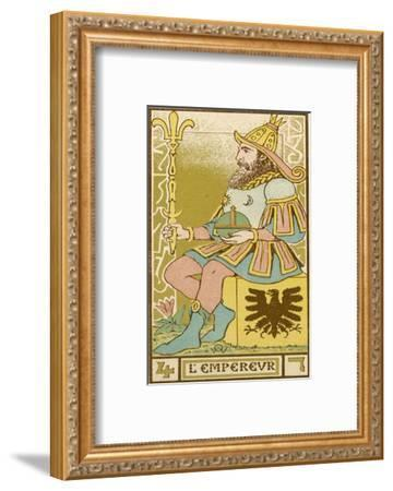 Tarot: 4 L'Empereur, The Emperor-Oswald Wirth-Framed Giclee Print