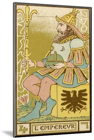 Tarot: 4 L'Empereur, The Emperor-Oswald Wirth-Mounted Giclee Print