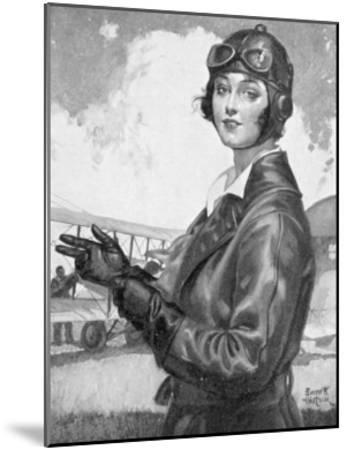 Girl Dressed for the Air-Emmett Watson-Mounted Giclee Print