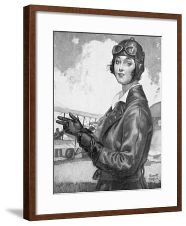 Girl Dressed for the Air-Emmett Watson-Framed Giclee Print
