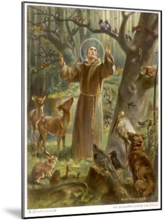 Saint Francis of Assisi, Preaching to the Animals-Hans Stubenrauch-Mounted Giclee Print