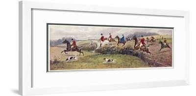 In Full Cry-George Wright-Framed Giclee Print