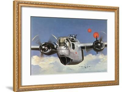 """During World War Two an American B-24 """"Liberator"""" Encounters """"Foo Fighters"""" During a Bombing Raid-Brian Withers-Framed Giclee Print"""