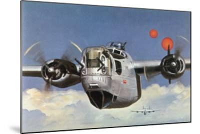 """During World War Two an American B-24 """"Liberator"""" Encounters """"Foo Fighters"""" During a Bombing Raid-Brian Withers-Mounted Giclee Print"""