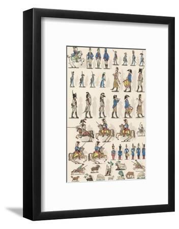 French Lead Toy Soldiers--Framed Giclee Print