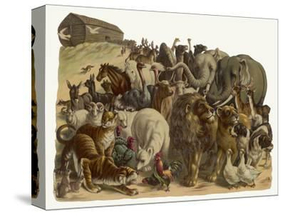 The Animals Emerge Two by Two from Noah's Ark--Stretched Canvas Print