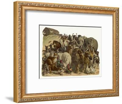 The Animals Emerge Two by Two from Noah's Ark--Framed Giclee Print