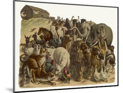 The Animals Emerge Two by Two from Noah's Ark--Mounted Giclee Print